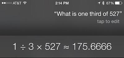 Siri — это еще и калькулятор