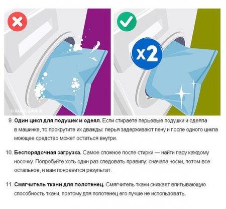 15 распространенных ошибок в стирке, которые портят одежду.